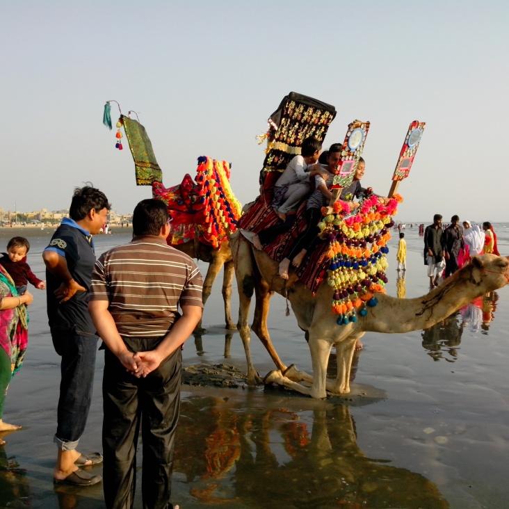 Karachi : Chameau sur la plage