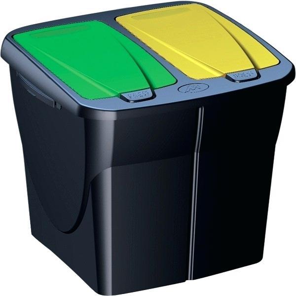 poubelle deux compartiments
