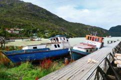Les pontons de Caleta Tortel