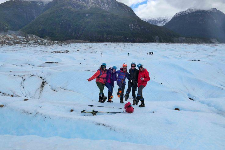 Notre petit groupe d'exploration sur le glacier des exploradores