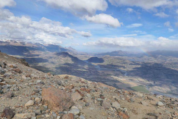 Vue sur la vallée depuis Cerro castillo