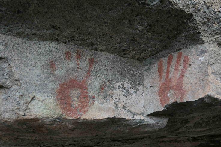 Peinture rupestre proche de Cerro castillo