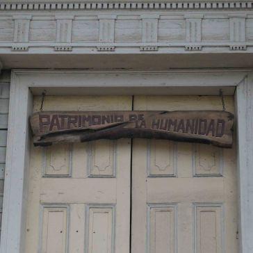 Fronton de l'église de Chonchi classé au patrimoine mondial de l'humanité