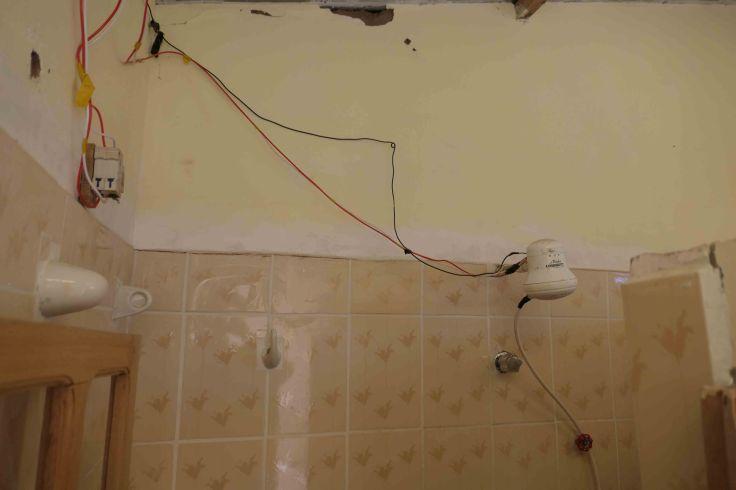 Une douche pas très sécuritaire!