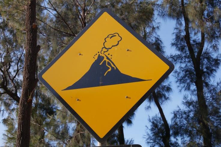 Panneau volcan
